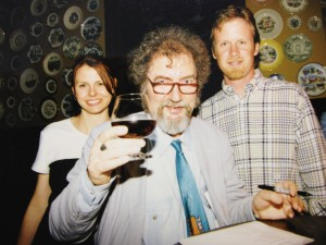 Craft beer week: Lauren Schlabs, Michael Jackson & Capt. Keith circa 1996