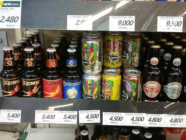 Grocery store selling craft beer in South Korea Beerkenws