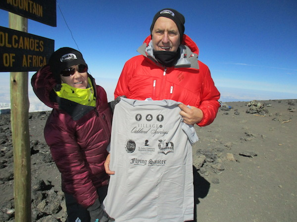 Mary Pat and Dennis James Mount Kilimanjaro Beerknews charity