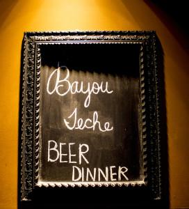 Bayou Teche Beer Dinner Flying Saucer Sugar Land