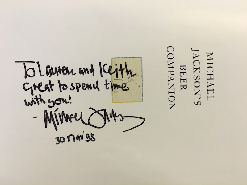 Michael Jackson beer Captain Keith autograph