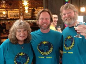 Candy Mike Hagan Captain Keith Addison Flying Saucer Brew Crew