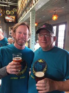 larry and captain keith addison flying saucer brew crew