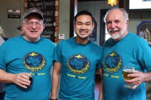 Larry Easley, Don Burke, Chris Tran Addison Flying Saucer Brew Crew