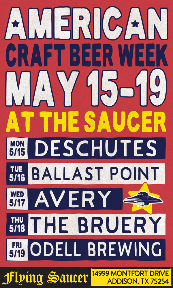 American Craft Beer Week Addison Flying Saucer