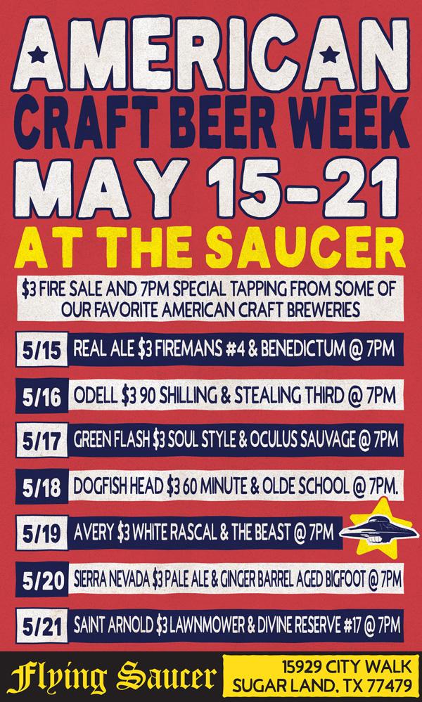 American Craft Beer Week Sugar Land Flying Saucer
