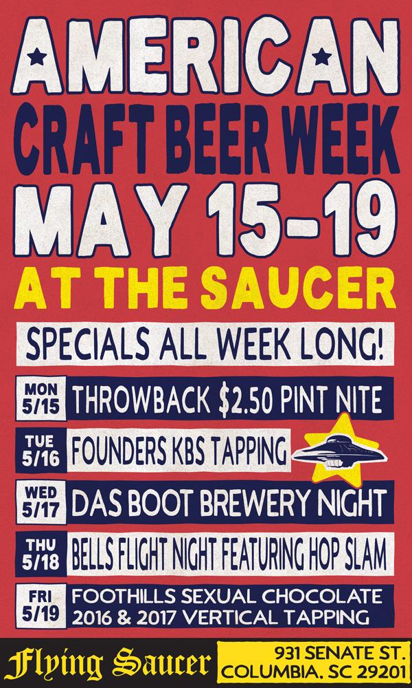 American Craft Beer Week Columbia Flying Saucer