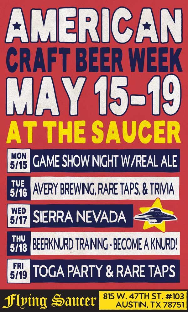 American Craft Beer Week Austin Flying Saucer