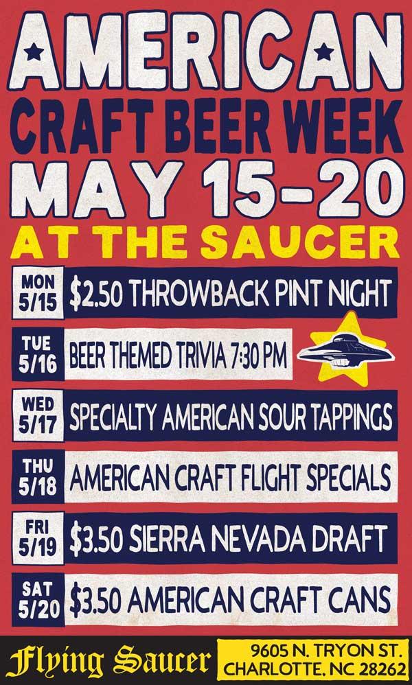 American Craft Beer Week Charlotte Flying Saucer