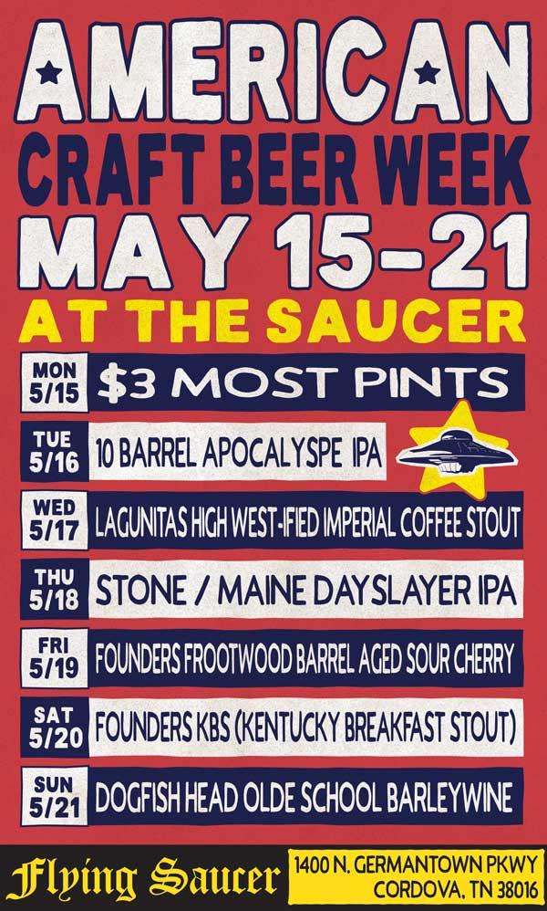American Craft Beer Week Cordova Flying Saucer