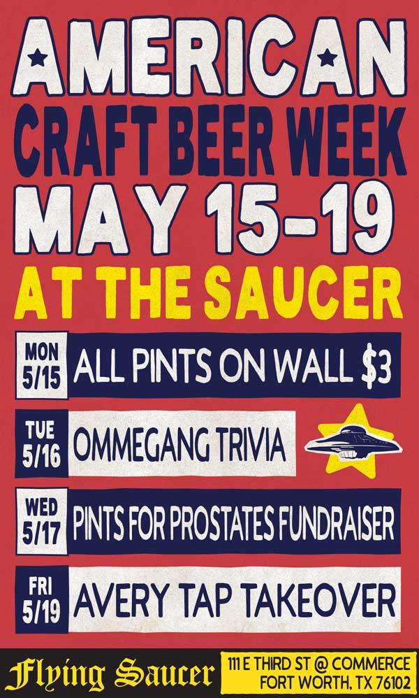 American Craft Beer Week Fort Worth Flying Saucer