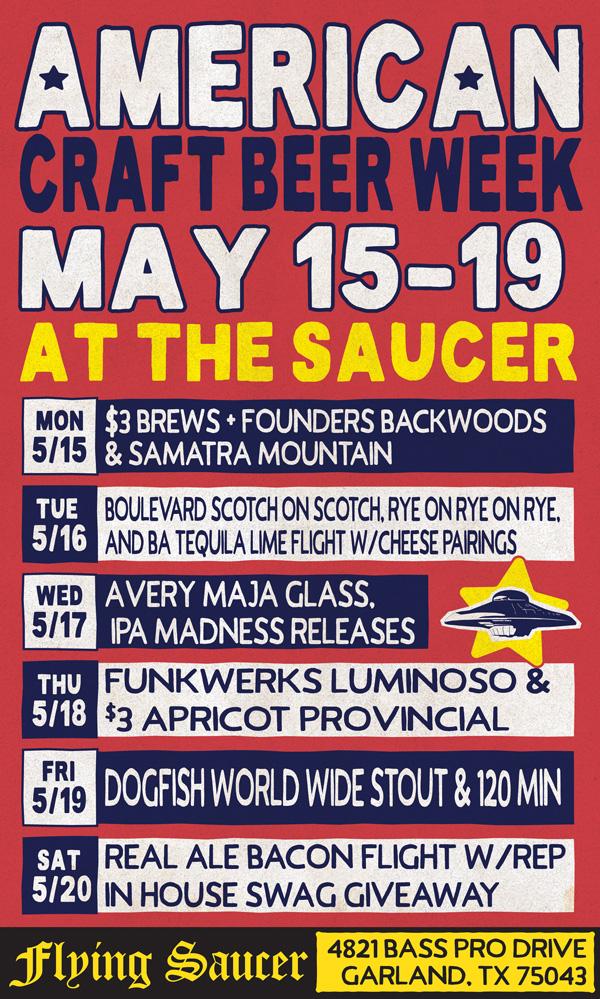 American Craft Beer Week Lake Flying Saucer