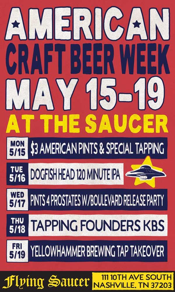 American Craft Beer Week Nashville Flying Saucer