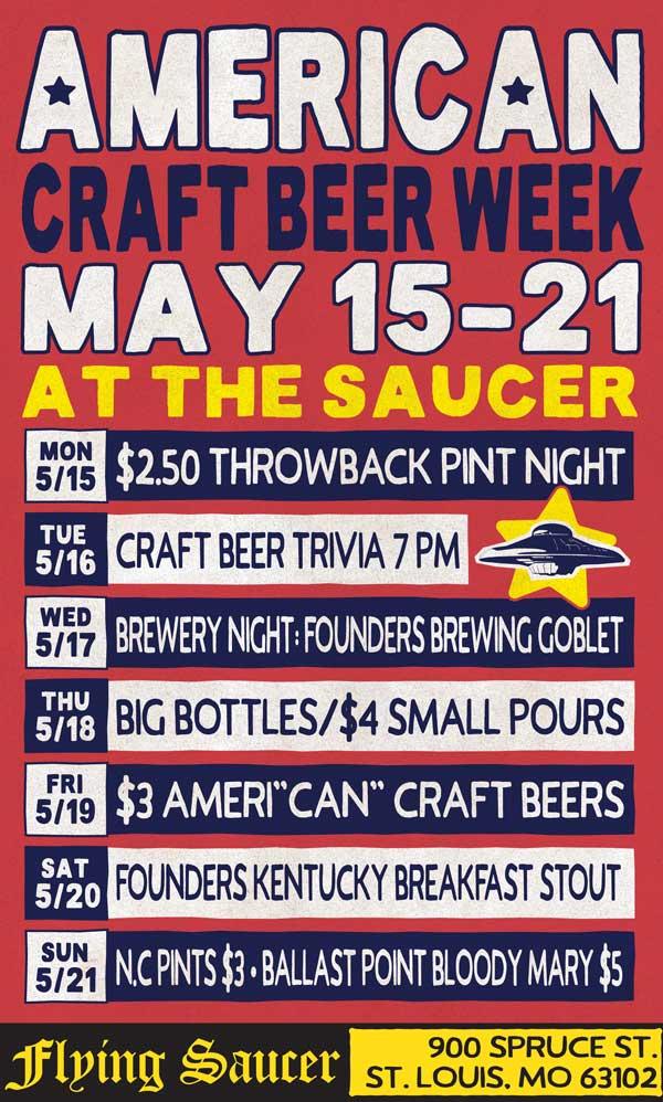 American Craft Beer Week Raleigh Flying Saucer
