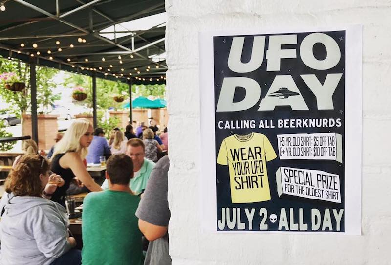 World UFO Day Raleigh Flying Saucer 2