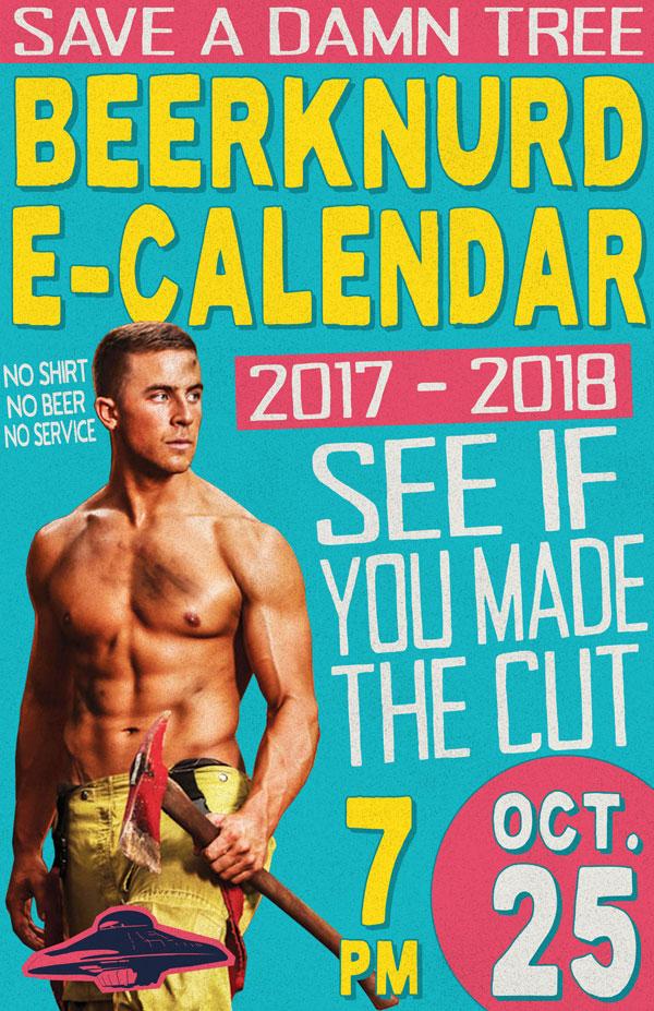 2017-2018 Flying Saucer Beerknurd Calendar Flyer